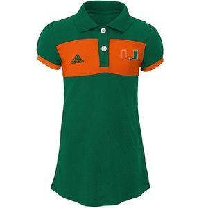 Miami Hurricanes Kids Halftime Dress NWT S(4)